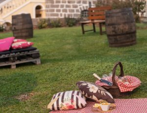 Piquenique nos jardins de vinícola centenária em Garibaldi (RS)