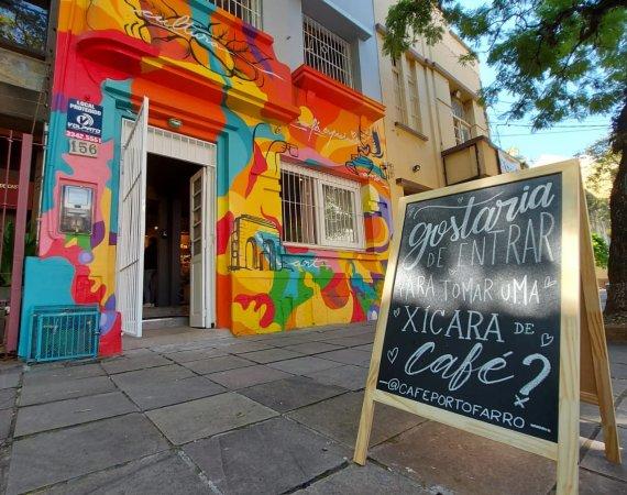 Café Porto Farrô celebra Porto Alegre, cafés especiais e arte urbana